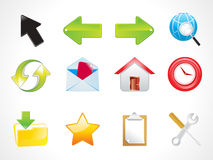 Abstract shiny web icon set Royalty Free Stock Photos