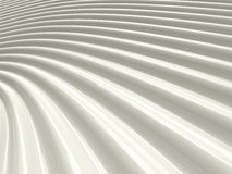 Abstract shiny white wave pattern. Background 3D illustration Royalty Free Stock Photos