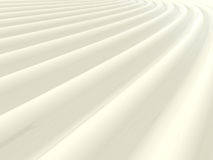 Abstract shiny white wave pattern. Background 3D illustration Stock Image