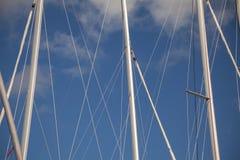 Abstract ships masts Stock Image