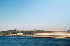 Abstract Ships and Topkapi Palace Stock Photo