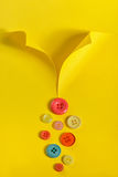Abstract shirt  and buttons Stock Photography