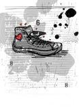 Abstract shoe vector Stock Photos
