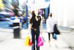 Abstract shopping scene Royalty Free Stock Photos