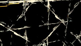 Abstract short wide lines in the orderly movement on black background, seamless loop. Animation. Many stripes flowing