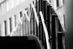Abstract shot of a fence. Near Main Point, Prague royalty free stock photo