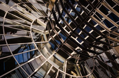 Abstract shot at modern glass cupola in Berlin, Germany Royalty Free Stock Image