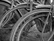 ABSTRACT SHOT OF OLD RUSTY BICYCLE PARTS Stock Images