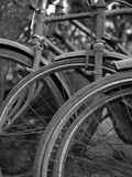 ABSTRACT SHOT OF OLD RUSTY BICYCLE PARTS Stock Photo