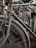ABSTRACT SHOT OF OLD RUSTY BICYCLE PARTS Stock Image