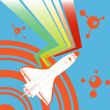 Abstract shuttle background Royalty Free Stock Photography