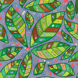 Abstract sick leaves seamless pattern Stock Photo