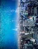 Abstract sideways water city background Stock Images