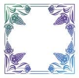 Abstract silhouet bloemenkader Royalty-vrije Stock Afbeeldingen