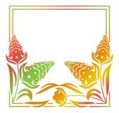 Abstract silhouet bloemenkader Royalty-vrije Stock Fotografie