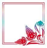 Abstract silhouet bloemenkader Royalty-vrije Stock Foto