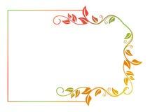 Abstract silhouet bloemenkader Royalty-vrije Stock Foto's
