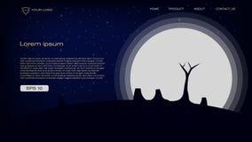 Abstract silhouet kleurrijk en speels achtergrond vectorillustratieontwerp voor landingspagina, banner, tijdschrift, affiche en v stock illustratie
