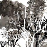 Abstract silhouet van bomen Stock Foto