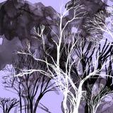 Abstract silhouet van bomen Royalty-vrije Stock Afbeelding