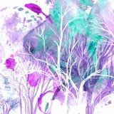 Abstract silhouet van bomen Royalty-vrije Stock Fotografie