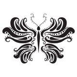 Abstract silhouet van een vlinder. Vector Royalty-vrije Stock Afbeeldingen