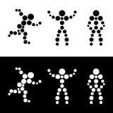 Abstract silhouet van mensen. Gebied. Stock Afbeelding