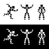 Abstract silhouet van mensen. Vierkant. Royalty-vrije Stock Foto's