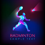 Abstract silhouette of a badminton player Royalty Free Stock Image