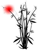 Abstract silhouette of bamboo Royalty Free Stock Photo