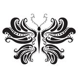 Abstract silhouette of a butterfly. Vector. Illustration . This is file of EPS10 format Royalty Free Stock Images