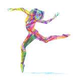 Abstract silhouette of dancer Stock Photos