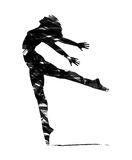Abstract silhouette of a dancer Royalty Free Stock Photography