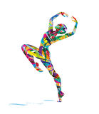 Abstract Silhouette of a dancer Royalty Free Stock Photos