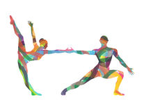 Abstract silhouette of dancers Royalty Free Stock Photography