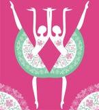 Ballerina silhouette Stock Photos
