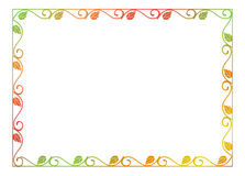 Abstract silhouette floral frame. Stock Photos