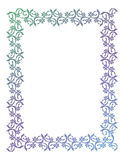 Abstract silhouette floral frame. Beautiful floral frame with gradient fill. Color silhouette frame for advertisements, wedding and other invitations or Royalty Free Stock Photography