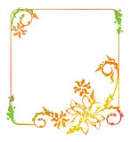 Abstract silhouette floral frame. Beautiful floral frame with gradient fill. Color silhouette frame for advertisements, wedding and other invitations or Royalty Free Stock Image