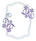 Abstract silhouette floral frame. Beautiful floral frame with gradient fill. Color silhouette frame for advertisements, wedding and other invitations or Stock Images