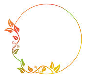 Abstract silhouette floral frame. Beautiful floral round frame with gradient fill. Color silhouette frame for advertisements, wedding and other invitations or Stock Photo