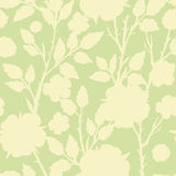 Abstract silhouette floral seamless pattern Royalty Free Stock Images