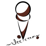 Abstract silhouette of ice-cream. Vector. Illustration stock illustration
