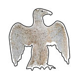 Abstract silhouette of large eagle mosaic brown Stock Photography