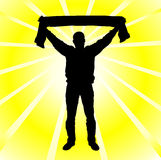 Abstract silhouette of a man. Sport Fan Stock Photos