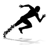Abstract silhouette of man running Stock Image