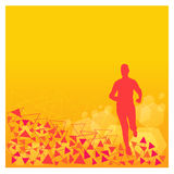 Abstract silhouette of runner Royalty Free Stock Photos