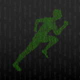 Abstract silhouette running man Royalty Free Stock Photo