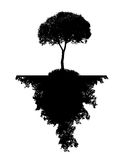 Abstract Silhouette Tree. Vector Illustration. Stock Photo