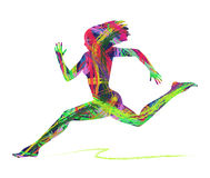 Abstract silhouette of woman running Royalty Free Stock Photo